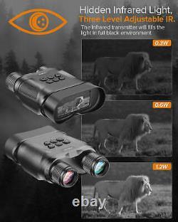 1080P 32GB Digital Night Vision Goggles Binoculars Infrared IR Camera 2.3 LCD