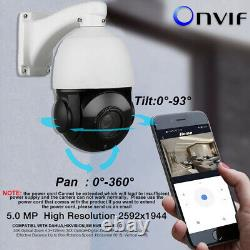 30X Zoom Outdoor CCTV 5MP Auto Tracking PTZ Camera 3D Humanoid Detection ONVIF