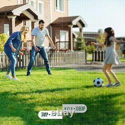 3MP 8CH NVR CCTV Security Camera System Wireless HD Lite 1080P Home Surveillance