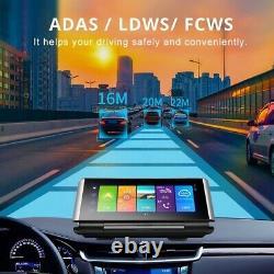 4G Android 8.1 Video Recorder Dash & Rear Cam GPS Navigation ADAS DVR 1080P Lot