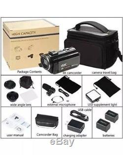 4K Camcorder, ACTITOP Video Camera 48MP UHD WiFi Digital Camcorder 16X Digital IR