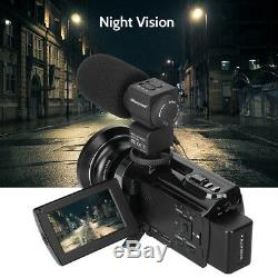 4K HD Digital Camcorder 16X Zoom WiFi 48 MP Video Camera withMic & IR Night Vision