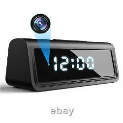 4K Ultra HD Wireless Wi-Fi Night Vision Video Camera Recorder in Digital Clock