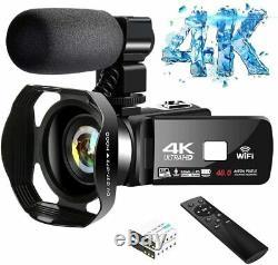 4K Video Camera Ultra HD Camcorder 48.0MP IR Night Vision Digital Camera WiFi Vl