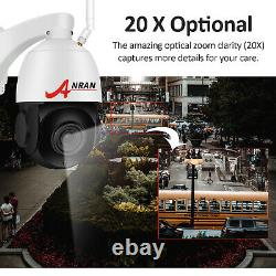 5MP Pan/Tilt 2Way Audio 20XZoom Security Camera System Wireless Microphone 64G