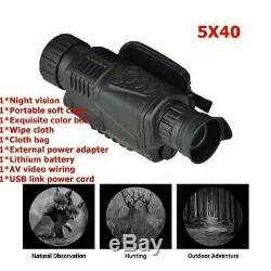 5X40 Digital Monocular Night Vision Infrared Night-Vision V3Q4 Camera Monoc E9O6
