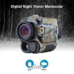 5x18 Digital Infrared Night Vision Monocular 8GB DVR Security Surveillance Scope