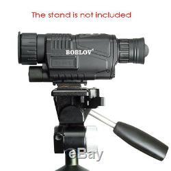 5x40 Zoom Scope Digital Monocular IR Night Vision Takes Photo Video DVR Black