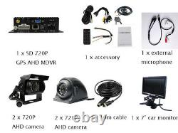 720P AHD 4CH GPS Car Vehicle DVR MDVR Rear View CCTV Security Camera 7 monitor