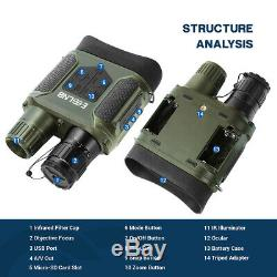 7X31 Digital Night Vision Binocular Scope with 2 TFT LCD and 32G TF Card