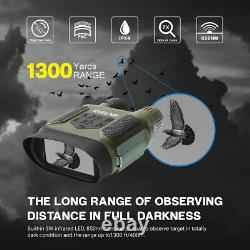 7X31 Night Vision Binoculars IR Scope with 2 TFT LCD 32G TF Card for Hunting