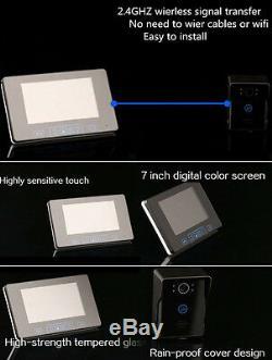 7 Wireless Video Doorbell Intercom Door Phone IR Night Vision Camera