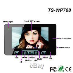 7 Wireless Video Doorbell Intercom IR Night Vision Camera with 2 Monitor