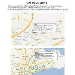 8CH GPS WIFI 4G AHD HDD MDVR Car DVR Video Recorder Kit 10 Monitor 1080P Camera