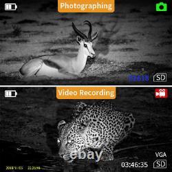 8GB 5X Digital Infrared Night Vision Monocular 850NM Take Photo Video Binocular