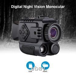8GB 5X Digital Infrared Night Vision Monocular Auto IR Wild Scouting Riflescope