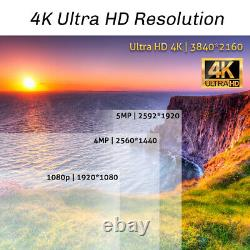8 Channel 4K NVR 4 X 8MP Full Color 4K Microphone PoE IP Security Camera System