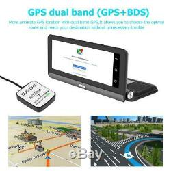 8in 3G/4G HD 1080P Car DVR Dash Camera GPS Dual Lens Android 5.1 Video Recorder