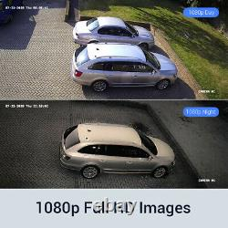 ANNKE 8CH 5MP Lite DVR 1080P Outdoor CCTV Security Camera System IR Night Vision