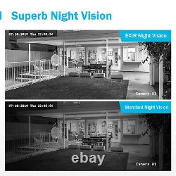 ANNKE 8CH H. 265+ DVR 5MP Security IP67 Dome Camera Home Night Vision System US