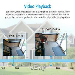 ANRAN 1080P Security Camera System Audio Wireless 2TB Hard Drive Home WiFi CCTV