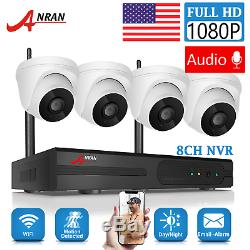 ANRAN Home Security Camera System Wireless Audio 2.0MP 4CH 1080P WiFi Recorder