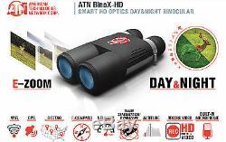 ATN BinoXS-HD Smart Digital Day/Night Vision Binocular HD 4-16X WiFi DGBNBNHDX2
