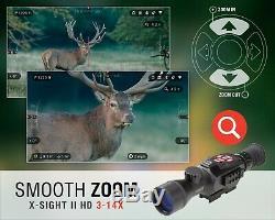ATN X-Sight II Smart HD Digital Night Vision 3-14x Rifle Scope #DGWSXS314Z