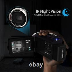 Andoer 4K 1080P 48MP WiFi Digital Video Camera 16X Zoom IR Infrared Night Vision
