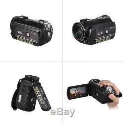 Andoer 4K UHD 24MP Digital Camera Camcorder Recorder 30X Zoom WiFi Touchscreen