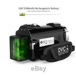 Andoer 4K WiFi Ultra HD 1080P 48MP 16X ZOOM 3 Digital Video Camera Camcorder DV