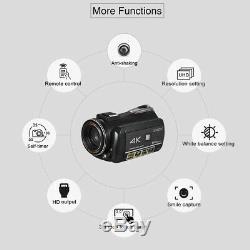 Andoer WiFi 4K 30X ZOOM + Microphone Digital Video Camera Camcorder DVR