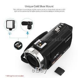 Andoer WiFi 4K HD 1080P 48MP 16X ZOOM 3 LCD Digital Video Camera Camcorder DV