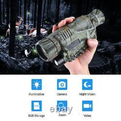 BOBLOV 5x40 Digital Monocular 8GB Night Vision Telescope for Wildlife Hunting