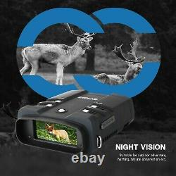 Binocular Night Vision Goggles With LCD 3.6-10.8X Zoom Camera Video Recorder 64G
