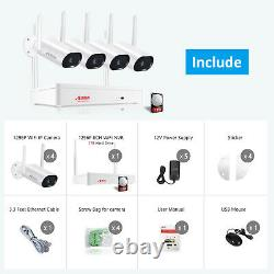 CCTV Home Security Camera System Wireless 1296P 8CH 1TB 5MP NVR Outdoor Audio IR