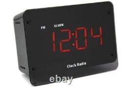 Clock Radio IR Night Vision Nanny Security Covert 4K Resolution Camera System