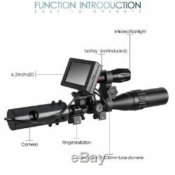 DIY Night Vision Scope Digital Camera For Rifle Scope With IR Torch & Monitor