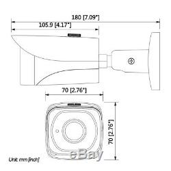 Dahua 4K UHD 8MP Bullet IP Security Camera H. 265 POE IR IP67 IPC-HFW4831E-SE 4mm
