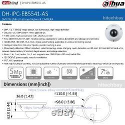 Dahua AI Fisheye IPC-EB5541-AS 5MP Panoramic Camera Mic PoE, replace IPC-EB5531