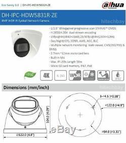 Dahua IPC-HDW5831R-ZE 4K 8MP WDR IR Eyeball Camera 4xMotorized Lens PoE Network