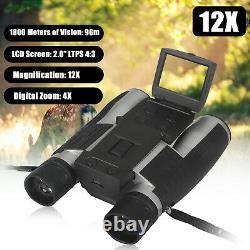 Digital 12X LCD Zoom Binocular Telescope Video Camera Record Screen Night Vision