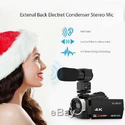 Digital Camcorder 4K 1080P 48MP WiFi Camera 0.39X Angle Macro Lens Microphone
