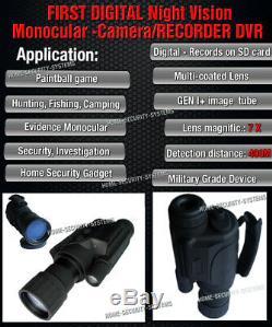Digital NV Monocular IR Night Vision Goggles Security Camera Gen Tracke