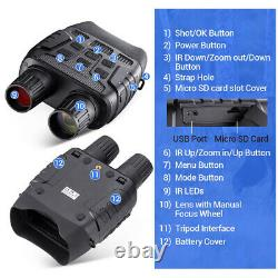 Digital Night Vision Goggles Binoculars Complete Darkness Infrared Scope