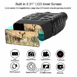 HD Video Digital Zoom Night Vision Binocular 7X Infrared Hunting Scope IR Camera