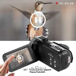 HD Vlogging Video Camera Camcorder 1080P Digital Night Vision YouTube Selfie