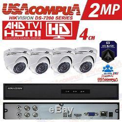 HIKVISION KIT 4CH 4 CAMERAS 1TB 4CH Turbo HD DVR 1080P LITE (1TB HDD)