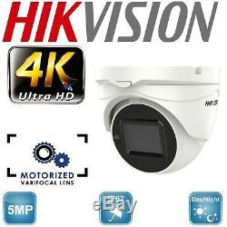 Hikvision 5mp Cctv System Motorised Varifocal Turret Camera 40m Night Vision Uk