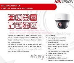 Hikvision DarkFighter DS-2DE4A425IW-DE 4MP 25x PTZ IP Camera PoE+ Smart-tracking